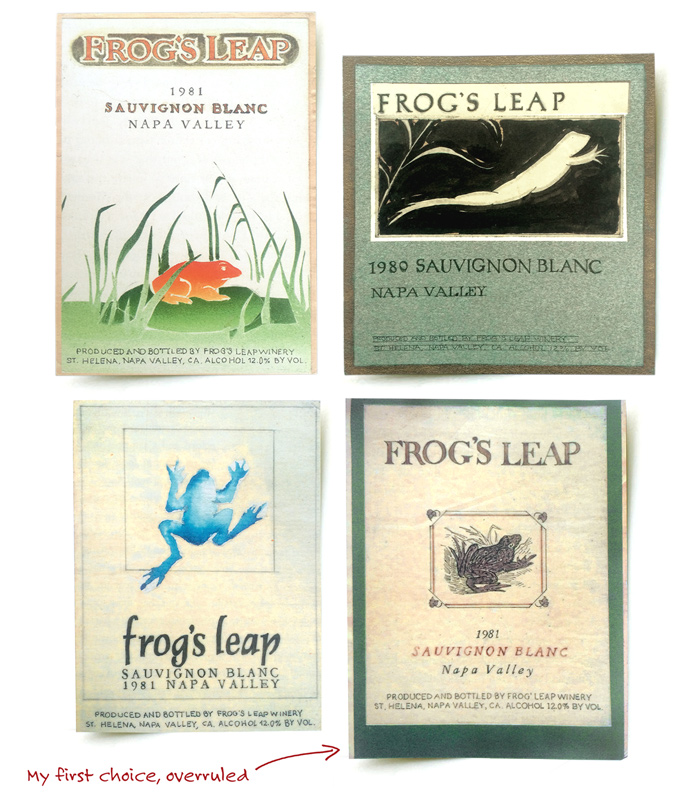 Frog's Leap Wine Labels